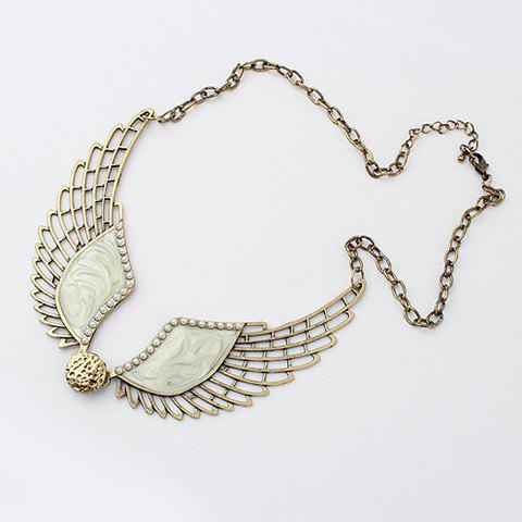 Discount Retro Style Angel Wing Shape Necklace
