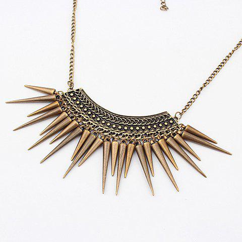 Online Vintage Exquisite Fringed Rivet Pendant Alloy Necklace AS THE PICTURE