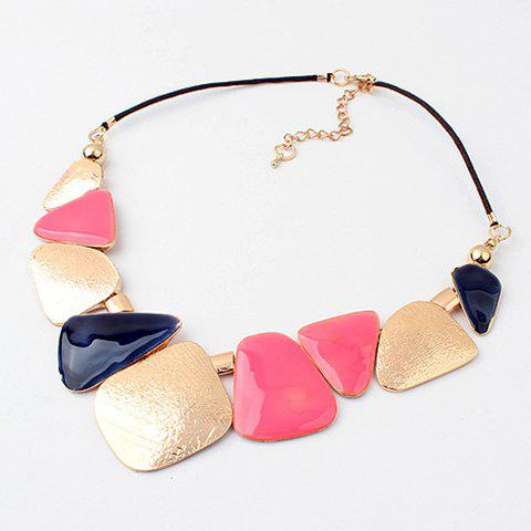 Buy Chic Style Multicolor Design Women's Irregular Alloy Geometric Necklace