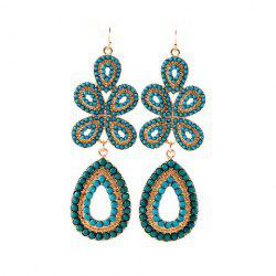 Delicate Bohemian Style Solid Color Women's Flower Shape Drop Earrings -