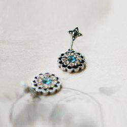 Alloy Rhinestone Embellished Waterdrop Shape Earrings