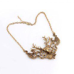 Retro Alloy Elk Shape Necklace -