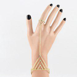 Alloy Triangle Bracelet With Ring - AS THE PICTURE