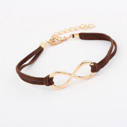 Faux Leather Adjustable Infinity Bracelet -