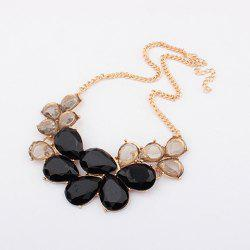 Elegant Rhinestone and Acrylic Embellished Women's Waterdrop Necklace -