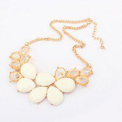 Elegant Rhinestone and Acrylic Embellished Women's Waterdrop Necklace