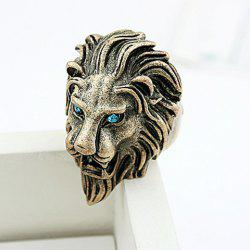 Cool Rhinestone Lion Shaped Finger Ring -