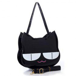 Casual Cat and Patent Leather Design Women's Shoulder Bag -