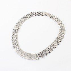 Punk Rhinestoned Alloy Choker Necklace