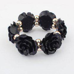 Vintage Beads Embellished Alloy Rose Shape Bracelet -