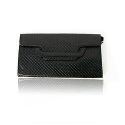 Fashion Style Black and Checked Design Women's Clutch
