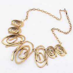 Vintage Style Spiral Pendants Alloy Necklace -