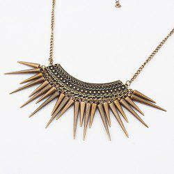 Vintage Exquisite Fringed Rivet Pendant Alloy Necklace
