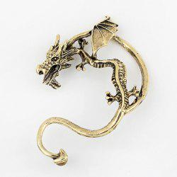 Vintage Alloy Dragon Shape Earring - GOLD