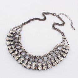 Exaggerated Chic Style Rhinestoned Women's Camber Alloy Choker Necklace -