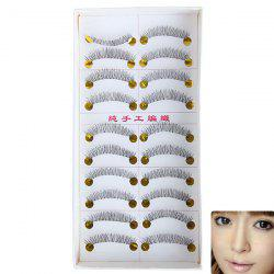 New Arrival 10PCS Hand-made Super Exquisite Fake Eyelash for Ladies