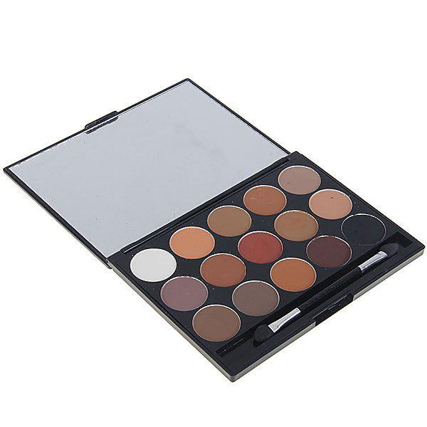 8815# 15 Colors Charming Makeup Eyeshadow Cosmetic Set with Mirror and Brush for Women 04#