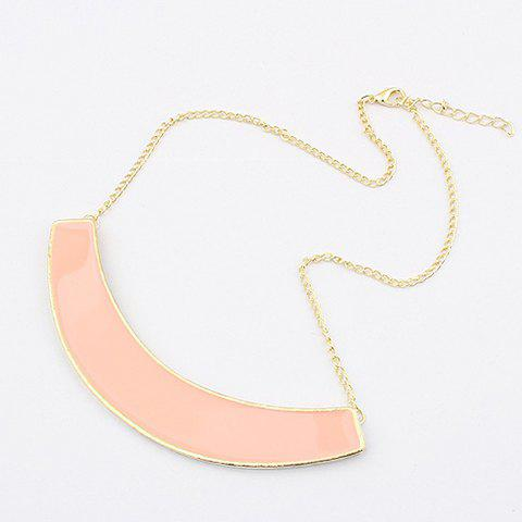 Outfit Exaggerated Chic Style Solid Color Semiarc Pendants Women's Alloy Necklace