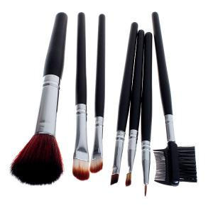 7PCS Fashion Soft Make-up Professional Cosmetic Tool Brushes with Elegant Bag -