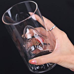 Creative Shark Attacks Cup/Coffee Cup or Beer Mug the Best Gift for Boss and Friends- Transparent -