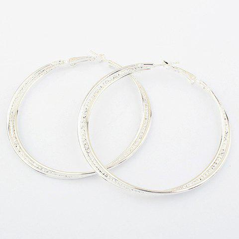 Affordable Pair of Figured Round Pendant Alloy Earrings