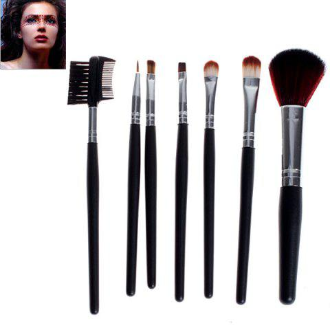 Fashion 7PCS Fashion Soft Make-up Professional Cosmetic Tool Brushes with Elegant Bag