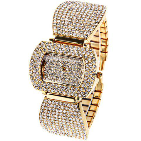 Best Tivaye Quartz Watch New Style Design Steel Watch Band for Women (Gold)
