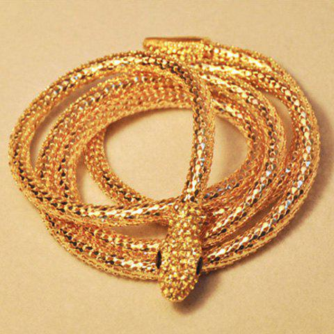 Buy Chic Style Embellished Smooth Snake Shape Necklace For Women AS THE PICTURE
