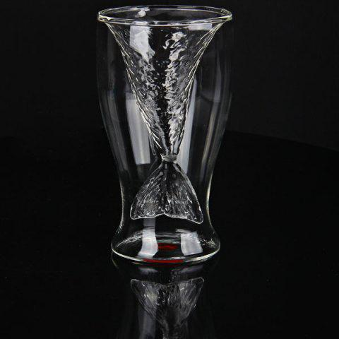 Unique Mermaid Glass Wine Cup Shark Beer Novelty Mug Cup Drinking Milk Glass Cup Doomed Crystal Shot Cup - Transparent -   Mobile