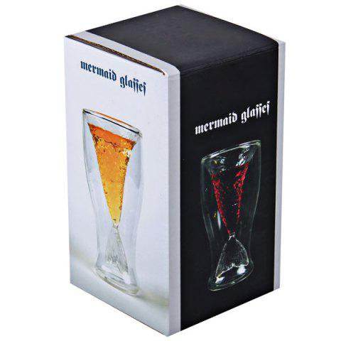 Buy Mermaid Glass Wine Cup Shark Beer Novelty Mug Cup Drinking Milk Glass Cup Doomed Crystal Shot Cup - Transparent -   Mobile