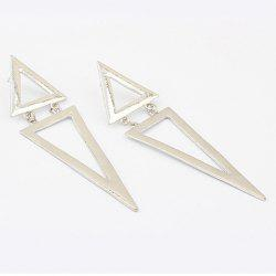 Pair of Exaggerated Women's Triangle Long Alloy Earrings -