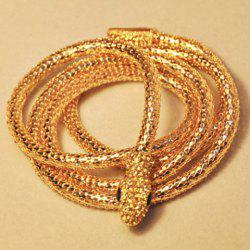 Chic Style Embellished Smooth Snake Shape Necklace For Women -