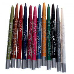 12PCS Menow Fashionable Long Lasting Waterproof Lip Pencil Eyeliner Pencil