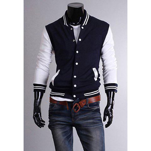 Affordable Casual Style Stand Collar Long Sleeves Polyester Sweat-Shirt For Men