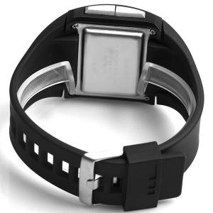 Santai Waterproof Rubber Band Watches with Green LED Display Numbers Rectangle Shaped -