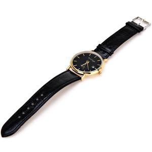 Rosivga Quartz Watch with Strips Indicate Leather Watch Band for Men - White -
