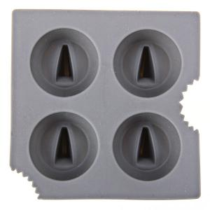 4 Holes Silicone Shark Fin Ice Mould Cube/Pudding Maker Tray Kitchen DIY Tool - Gray -