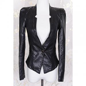 Fashionable Style Solid Color Zipper Long Sleeve Coat For Women