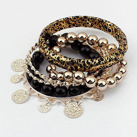 Shop Beads and Round Pendants Design Multi-Layered Bracelets