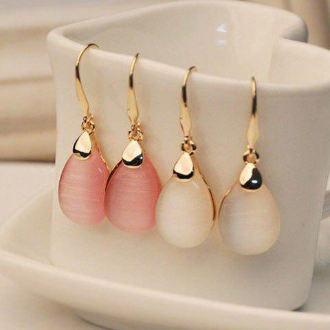 Chic Pair of Faux Opal Waterdrop Shape Earrings - COLOR ASSORTED  Mobile