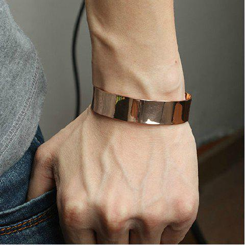 Shops Punk Style Golden Color Cuff Bracelet For Men