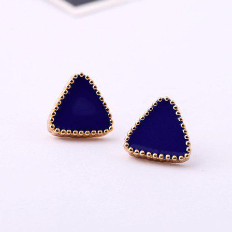 Cheap Triangle Stud Earrings - COLOR ASSORTED  Mobile