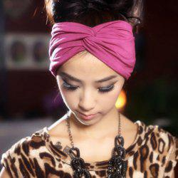 Ethnic Style Candy Color Embellished Intersect Headband For Women -