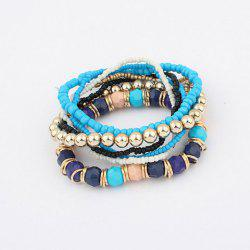 Stylish Beads Decorated Multilayered Bracelet For Women -