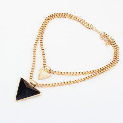 Triangle Pendant Alloy Multilayered Necklace -