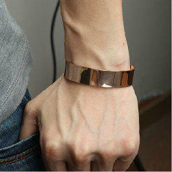 Punk Style Golden Color Cuff Bracelet For Men -