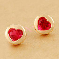 Pair Of Sweet Chic Style Heart Or Bowknot Or Star Print Design Stud Earrings For Women -
