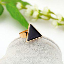 Fashion Colored Glazed Triangle Adjustable Ring For Women - BLACK