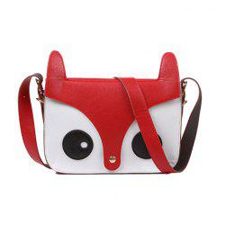Sweet Style Cute Little Fox Pattern Design Women's Crossbody Bag - RED