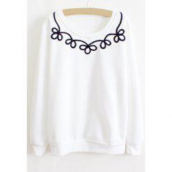 Floral Print Long Sleeves Casual Style Cotton Blend Women's T-Shirt -